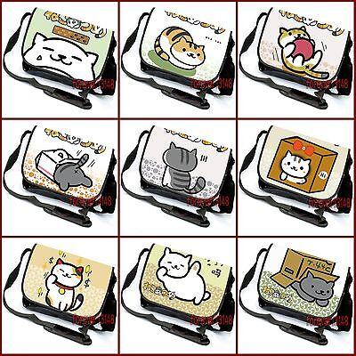 Anime Neko Cute Cat Kawaii Messenger Bag Satchel Laptop Bag#BQ-T10