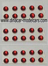 Lot de PASTILLES DE PHARE RONDES diamètre : 2 mm ( ROUGE )