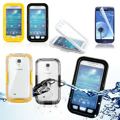 PC Waterproof Shockproof Dirt Snow Proof Case Cover For SAMSUNG GALAXY S4+Film
