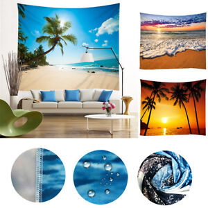 Sunrise-Sunset-Beach-Ocean-Style-Wall-Hanging-Tapestry-Bedspread-Mats-Home-Decor