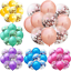 "10PCS Colorful Confetti Balloon Birthday Wedding Party Decor Helium Balloons 12/"""