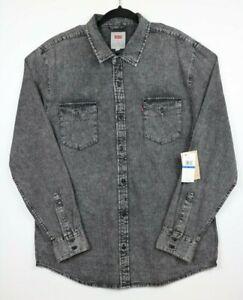 NWT-Levi-039-s-Mens-Size-XL-Matthew-Hunk-Grey-Denim-Button-Up-Shirt