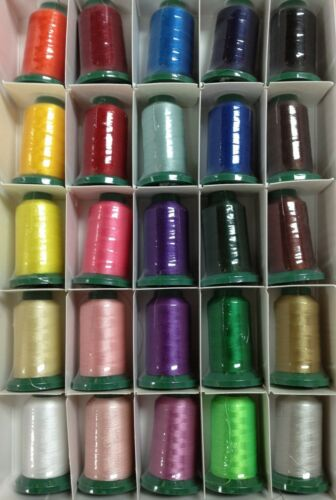 Poly-x40 Exquisite Popular Basic Embroidery Thread Set 1100 yd New 25 Spools