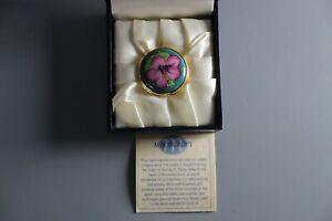 Moorcroft-Enamel-Pill-Box-With-Original-Display-Box-Floral-Design-4