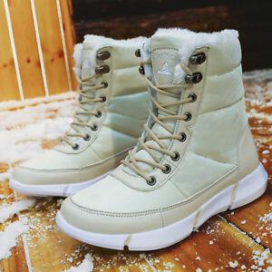 bed81fe82b7d Women s Fashion Snow Boot Fur Lined Winter Warm Waterproof Non-slip ...