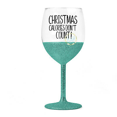 V223 DIY Glasses 6 x Christmas Calories Don/'t Count Wine Glass Vinyl Stickers