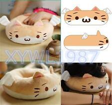 Kawaii Game Neko Atsume Cat Emoticon Kaomoji Kun Donut Plush Toy Cushion Pillow