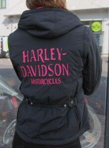 Schwarz Davidson Zu 10vw Harley Ladies GrS Wendejacke Jacke Details Pink Damen 97541 Neu OkZPXiu