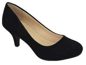 8618d5316a1 Details about City Classified Comfort Women Classic Heels Pump Closed Toe  Black Suede CARLOS