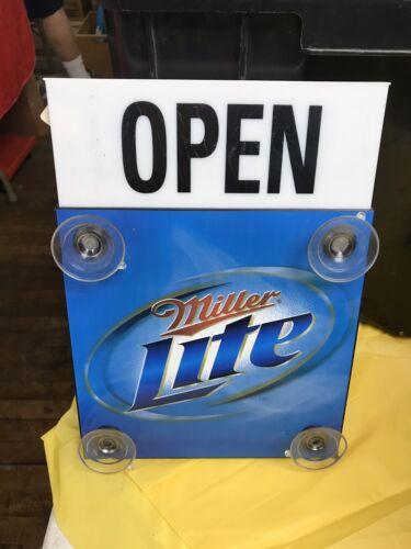 Open-Closed Sign Miller Lite