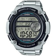 Casio AE3000WD-1A Stainless Steel Sport Watch - 3 City Time 100M 10 Year Battery