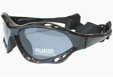 G&G Polarized Sunglasses Sport Water Surfing SUP Kite Black Frame Gray Lens