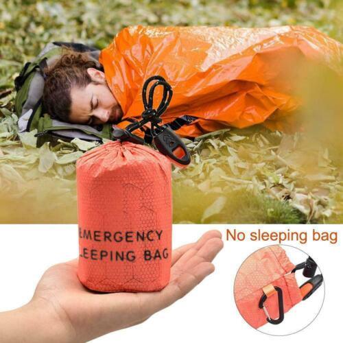 Outdoor Emergency Sleeping Bag Thermal Waterproof Survival Waterproof H6R4