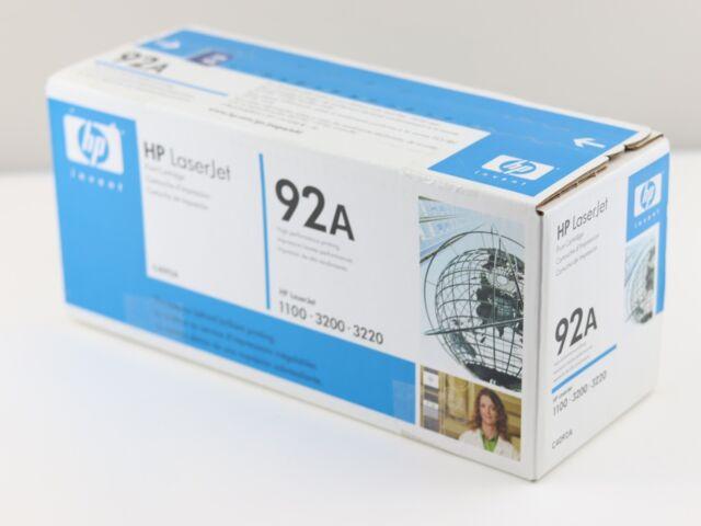 New HP 92A Black Laser Toner Print Cartridge C4092A for LaserJet 1100 3200 3220