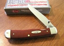 CASE XX New Smooth Chestnut Bone 1 Bld Trapperlock With Pocket Clip Knife/Knives