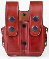 Kiro Holsters - Double Mag Tb Hand Made Leather Pouch For .45 1911 Ss Steel Mag