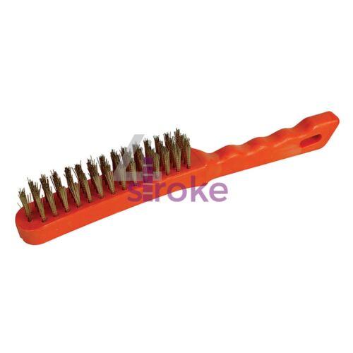 Brassed Brosse métallique en plastique 4 Rangée Bristle longueur 25 mm longueur 280 mm NEUF
