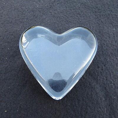 -beschwerer Brief- Herz Aus Glas Baccarat Unterzeichnet Wir Haben Lob Von Kunden Gewonnen