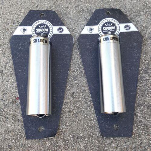 "1 PAIR OF SHADOW LITTLE ONES PEGS 4.33/"" LONG BMX BIKE PEG CHROME"