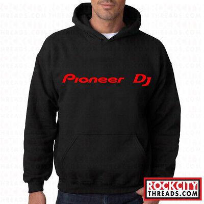 PIONEER DJ HOODIE Pullover Hooded Sweatshirt DeeJay EDM Turntables Club Audio
