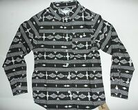 Boys Black and White Long Sleeved Shirt with Aztec Design