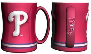Philadelphia-Phillies-15oz-Sculpted-Relief-Coffee-Mug-NEW-MLB-Tea-Cup-Hot