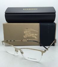 Burberry Rx-able Semi-rimless Eyeglasses B 1278 1145 53-17 Gold & Plaid Frames