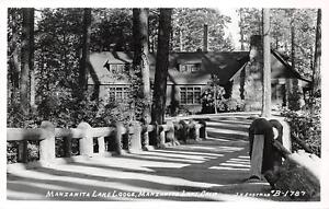 RPPC-Manzanita-Lake-Lodge-California-Vintage-Eastman-Vintage-Postcard-ca-1940s