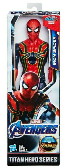 "Marvel Avengers 12"" Spiderman Titan Hero Series Iron Spider Endspiel"