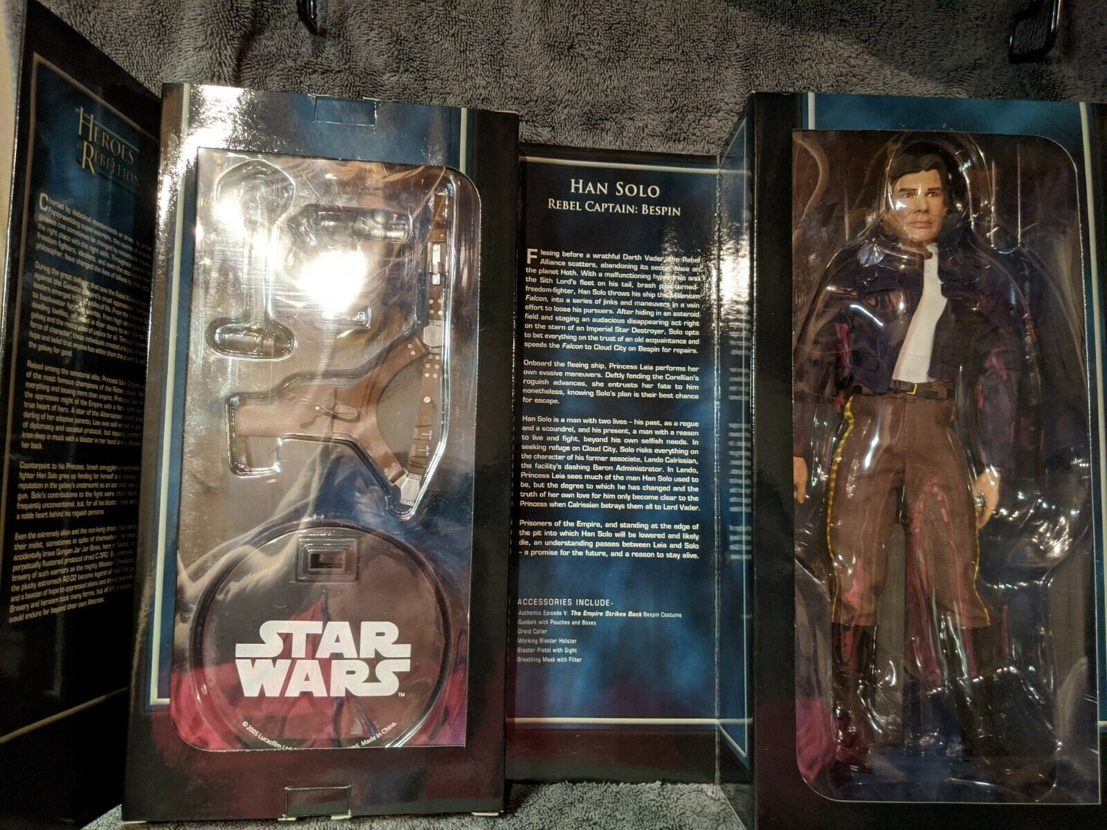 """Star Wars 12"""" 1/6 Sideshow Heroes of the Rebellion Han Solo Bespin Figure ESB on eBay thumbnail"""