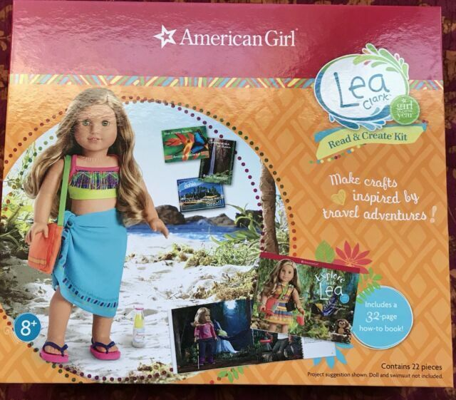 NEW American Girl Explore with Lea Clark Book Read /& Create Kit Sarong Sandals