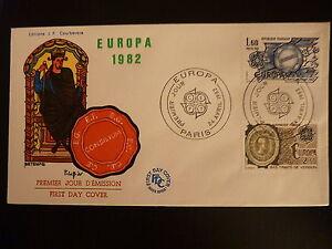 Contemplatif France Premier Jour Fdc Yvert 2207/08 Europa 1,60f Paris 1982
