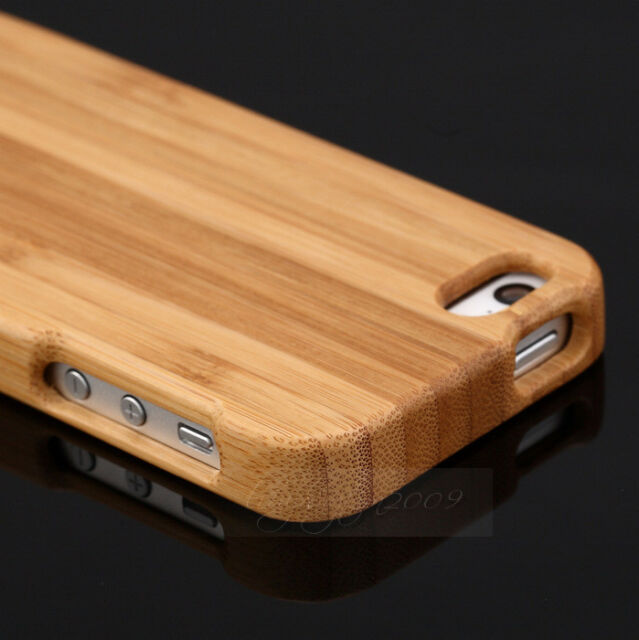 NEW Genuine Natural Wood Wooden Bamboo Hard Back Case Cover For iPhone 5 5G 5S