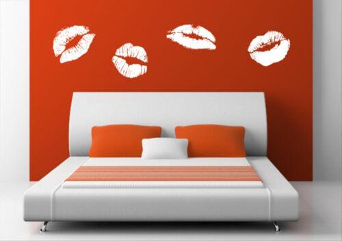 Sweet Kiss Lips Vinyl Sticker Wall Decorations Mural Decal Tattoo 4 x 30cm width