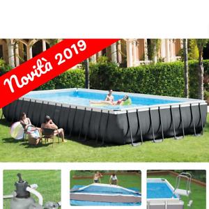 Intex Piscina Ultra Frame Rettangolare XTR 975x488x132H cm Filtro Sabbia 2019