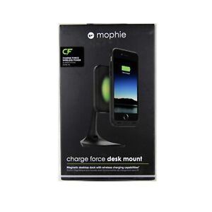 MOPHIE-DESK-MOUNT-CHARGE-FORCE-DOCK-MAGNETIC-QI-WIRELESS-CHARGING-BLACK-NEW-3454