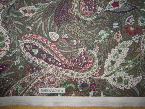 Verde Caqui Paisley poliéster suave tela drapeadas John Kaldor por metros