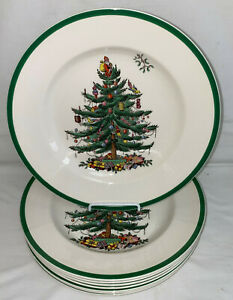 8-Spode-England-CHRISTMAS-TREE-10-3-4-034-DINNER-PLATES-S3324T