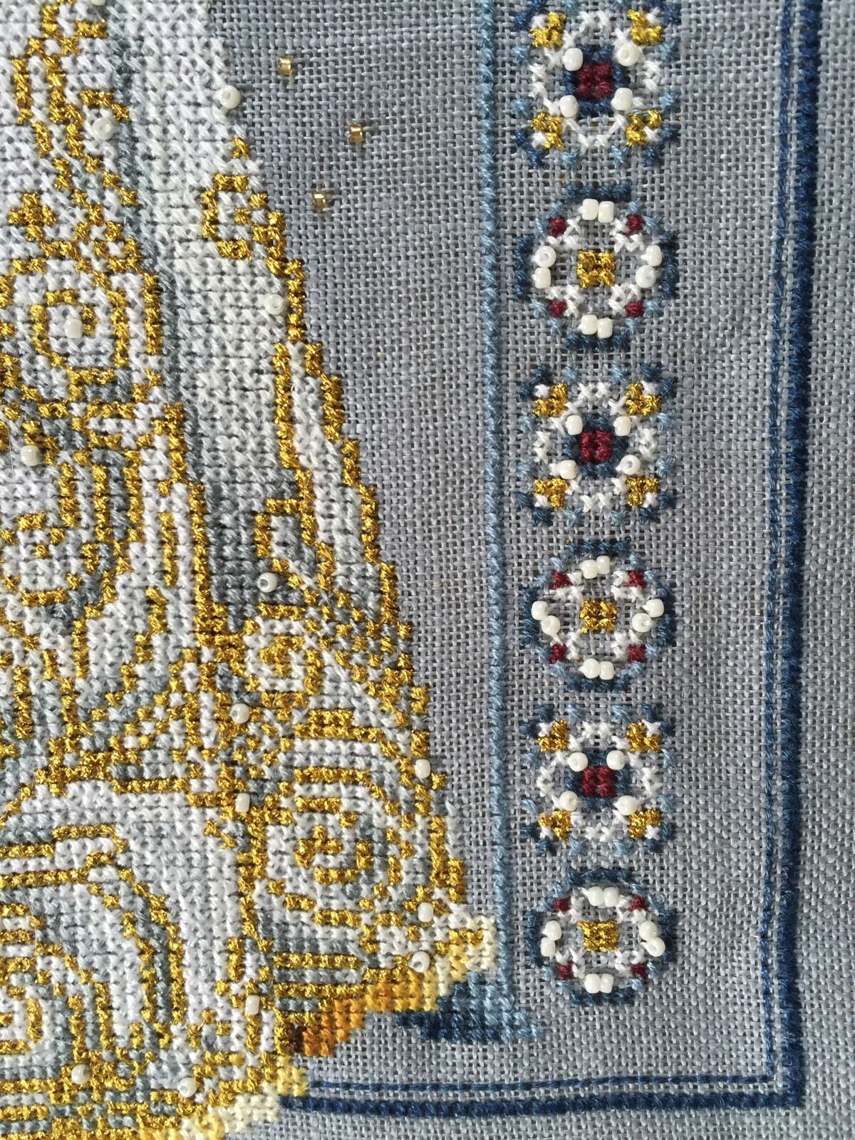 Lavender & & Lavender Lace Celtique hiver terminé Cross stitch ec8cdb
