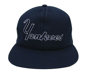 067791c1f3281 Image is loading New-York-Yankees-Snapback-Retro-Vintage-Word-Trucker-