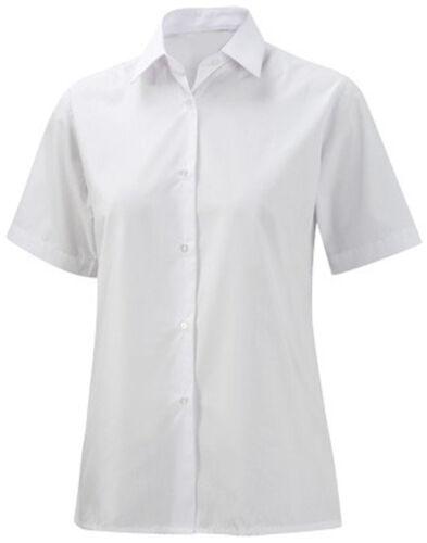 Girls//Ladies Blouse Short Sleeves Shirts School Uniform Office wear Smart Blouse