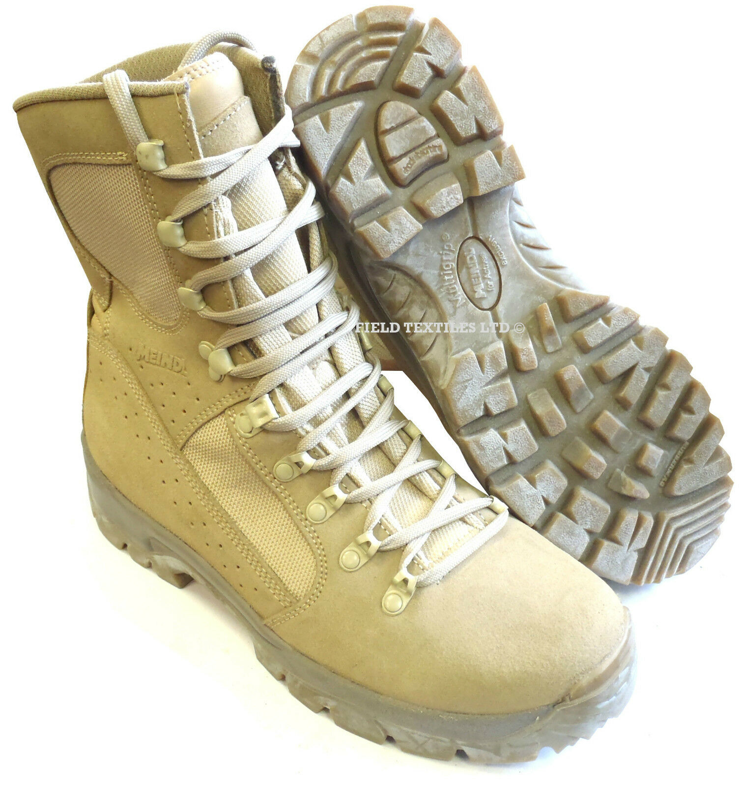 British Army-MEINDL Fox Desert Boots-VARIE Boots-VARIE Desert DIUomoIONI GRANDE-NUOVO IN SCATOLA 923060