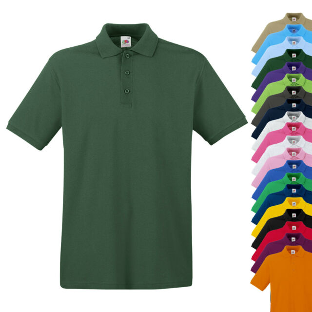 NEU - Fruit of the Loom Premium Polo Shirt - Herren Polo - SONDERPOSTEN SALE%