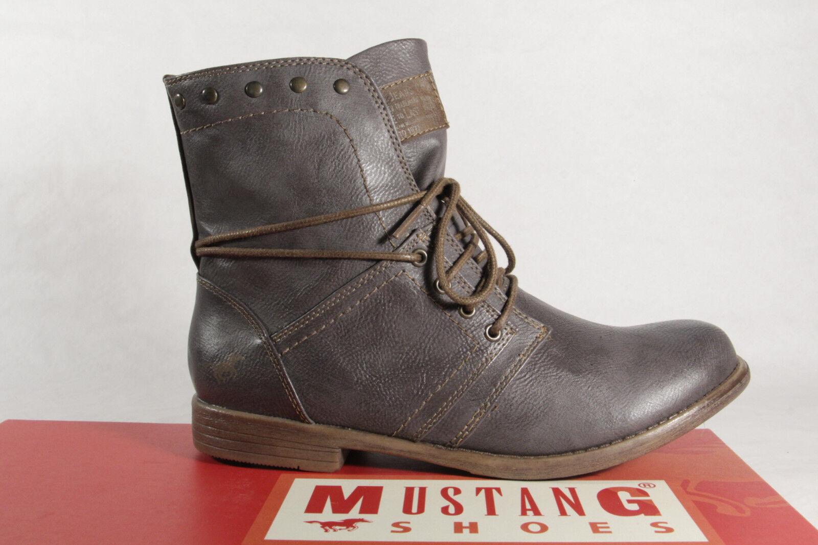 Mustang Stiefel Stiefel Stiefeletten Schnürstiefel Stiefel Mustang grau 1134  NEU f01f00