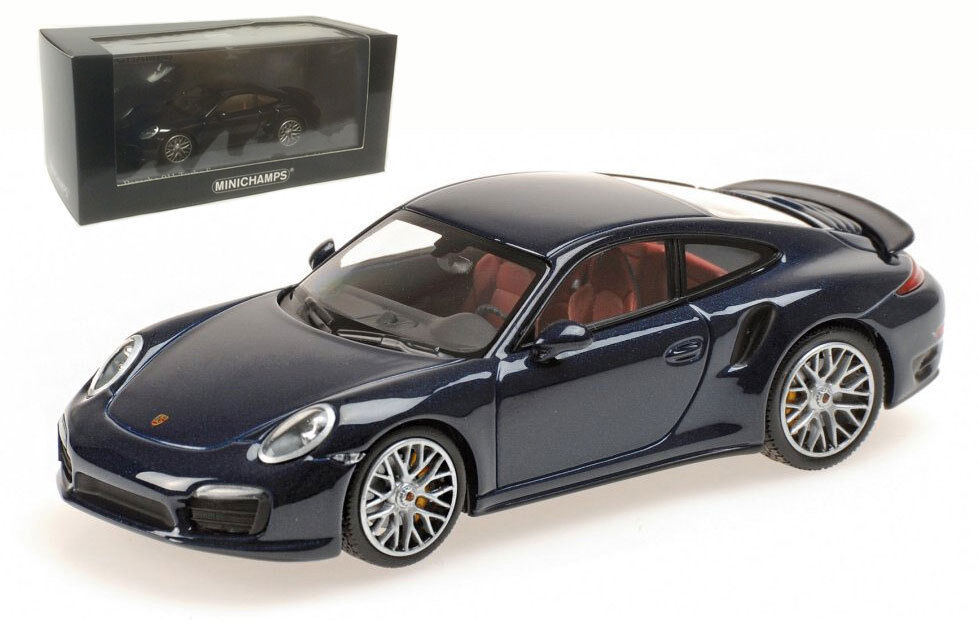 Minichamps 410 062220 Porsche 911 Turbo S 2013 - Dark bluee Metallic 1 43 Scale