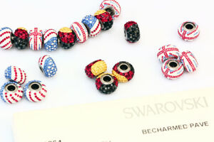 Genuine SWAROVSKI 80101 BeCharmed Pave Crystal Beads 14mm Many Colors