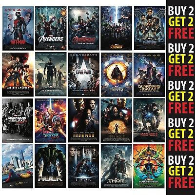 A3 or A4 Size* AVENGERS AGE OF ULTRON MOVIE POSTER 2015 FILM PRINT Wall Art Deco