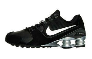 Nike-Shox-Avenue-LTR-833584-001-Leather-Black-Silver-Men-039-s-Size-7-5-NEW-IN-BOX