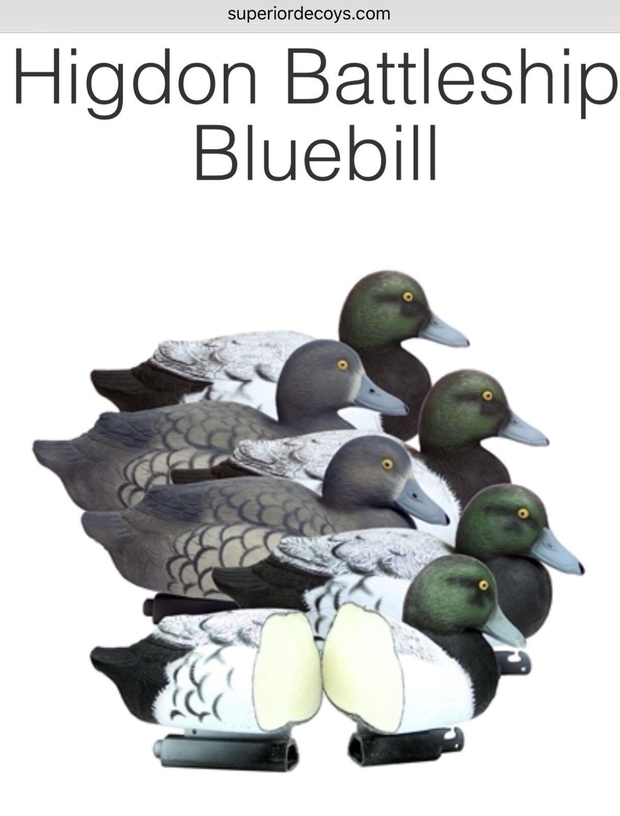 Nuevo-Higdon Outdoors-Acorazado rellenos de espuma azulbill-Paquete de 6-Envío Gratuito