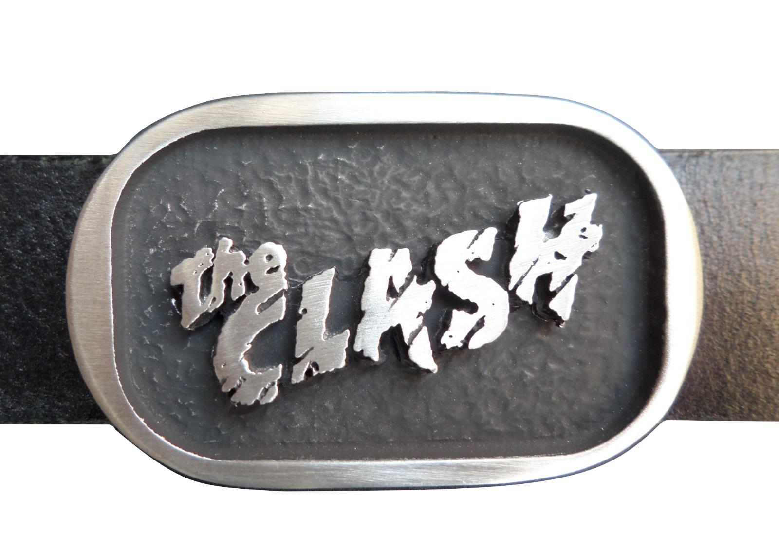The Clash Logo Punk Zinn Gürtelschnalle - Hand Hergestellt IN Großbritannien